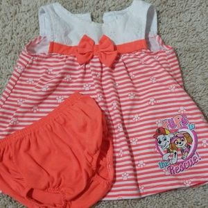 Paw Patrol dress and bloomers
